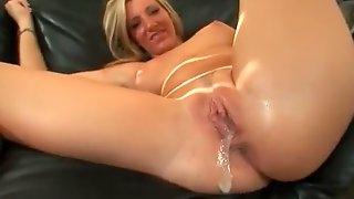 Incredible pornstar in best creampie, swallow adult scene
