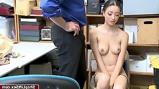 Brunette chick fucked by lp officer after her failed stealing