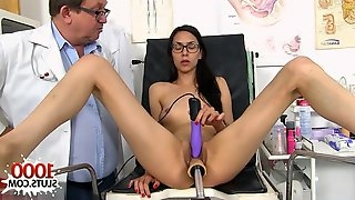 My Skinny Step-Daughter Comes To Her Gyno Doctor