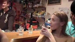 Drunk slut, we all got to finger fuck in my brothers bar