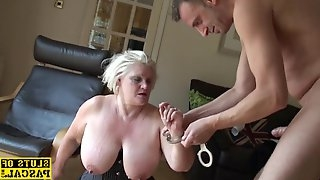 Curvy british sub dominated with roughsex