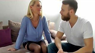 My Best Friends German Mom with Big Clit Let Me Cum in Her Pussy