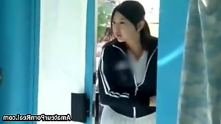 Hot Japanese Girl Massage Ends Fucked In Windows Room