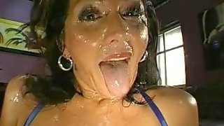 Monja is a serious cum slut