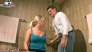 German blonde saggy tits housewife seduced