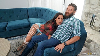 Bearded guy buries his huge bone deep inside be advisable for sexy Luna Star