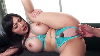 Horny chick Miki Ichiki moans loudly while object her ass banged