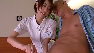 Passionate fucking opportunities in sight with cute Asian nurse Makoto Yuuki