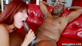 Redhead Latina Leah Cortez spreads her legs be fitting of a deadly dick